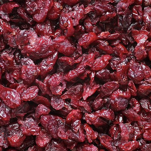 Dried cranberries (infused with apple juice)