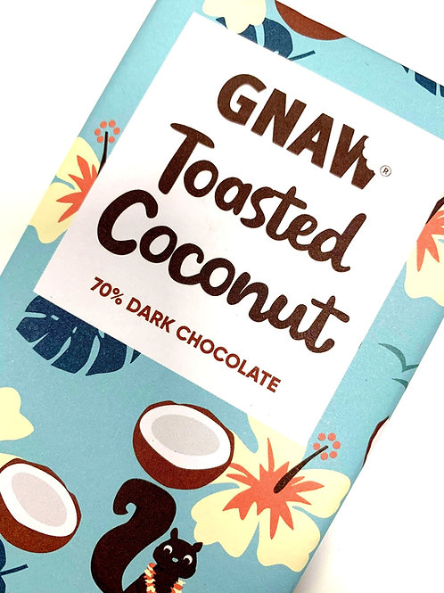 Toasted Coconut 72% Dark Chocolate Bar • Vegan
