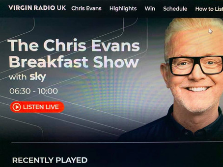 Glow Foods mentioned on the Chris Evans Breakfast Show!