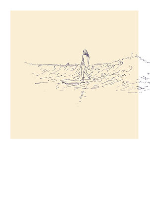 heidimoriot/illustration/artiste/surf/nouvelle vague