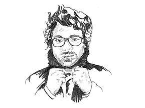 heidi moriot/dabrasilians/david sztanke/paris/goupe musique/pochette album/dessin protrait