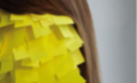 heidi moriot/artiste/auto portrait/photo/post it/