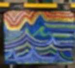 heidi moriot/artiste/atliers/intervenant/poubelles/tri selectif/mairie verdon sur mer/dechets/collages/mer/océan/gommettes/slogan/pointillisme/calligaphie/enfants