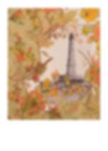 heidi moriot/artiste/illustrations/crate postales/soulac sur mer/médoc/phare de corduan