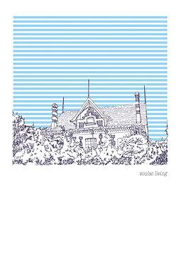 heidi moriot/artiste/illustrations/crate postales/soulac sur mer/soulacaise/médoc