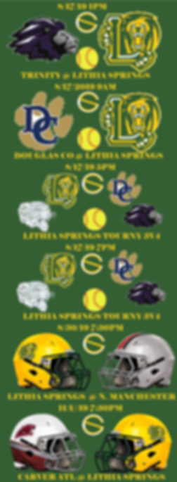 Lithia Springs 2019 FALL BROADCAST SCHED