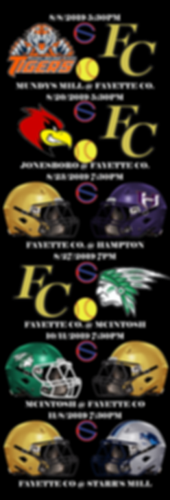 FAYETTE county 2019 FALL BROADCAST SCHED