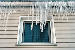 Icicles on a Rooftop