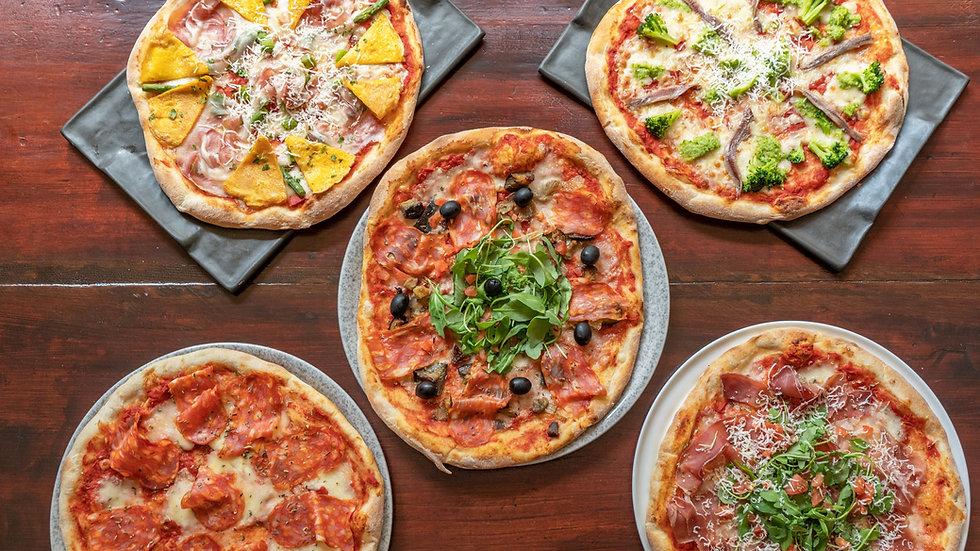 pack 5 pizzas 33cm