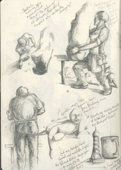 Stone sculpting sequence (ii)