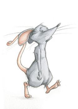 Despondent mouse
