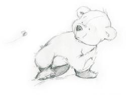 curious bear sketch