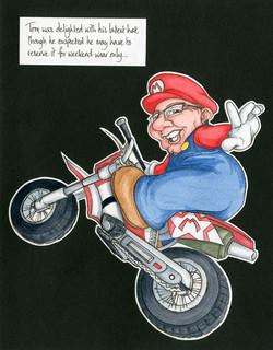 Mario-inspired card (personalised)