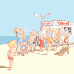Ice cream van queue