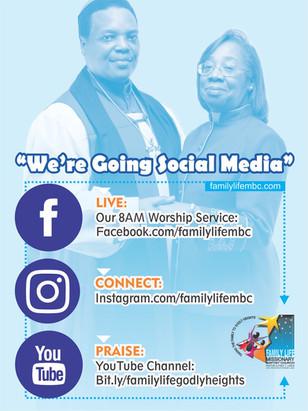 We're Going Social Media