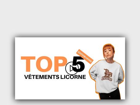 TOP 5 VÊTEMENTS LICORNE (SPÉCIAL HIVER)