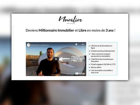 Page de vente Nowalive