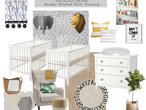A Gender-Neutral Nursery for Twins