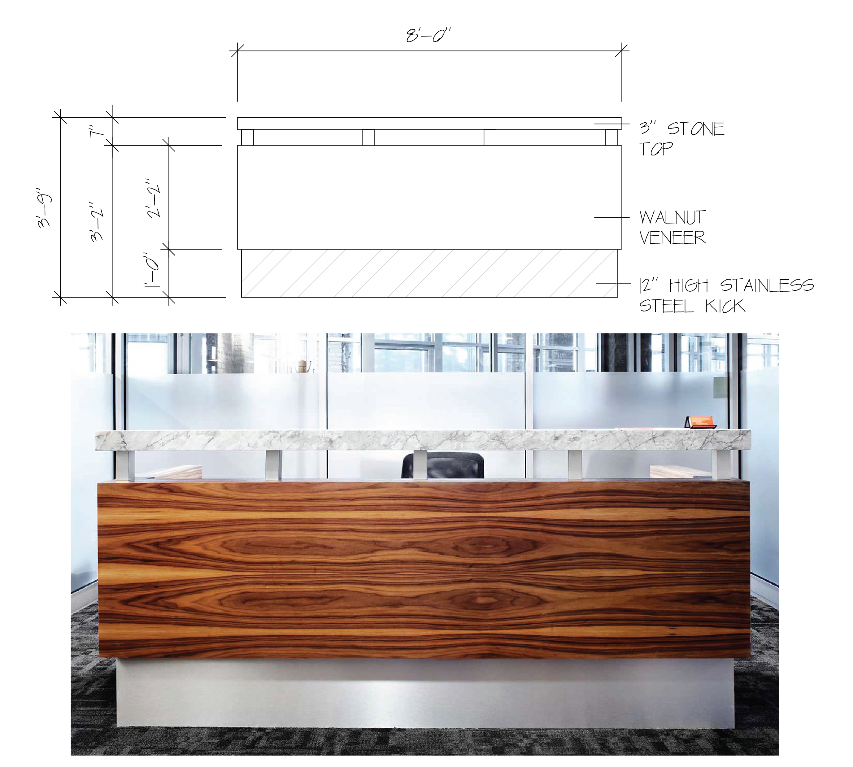 Reception Desk in Workplace One