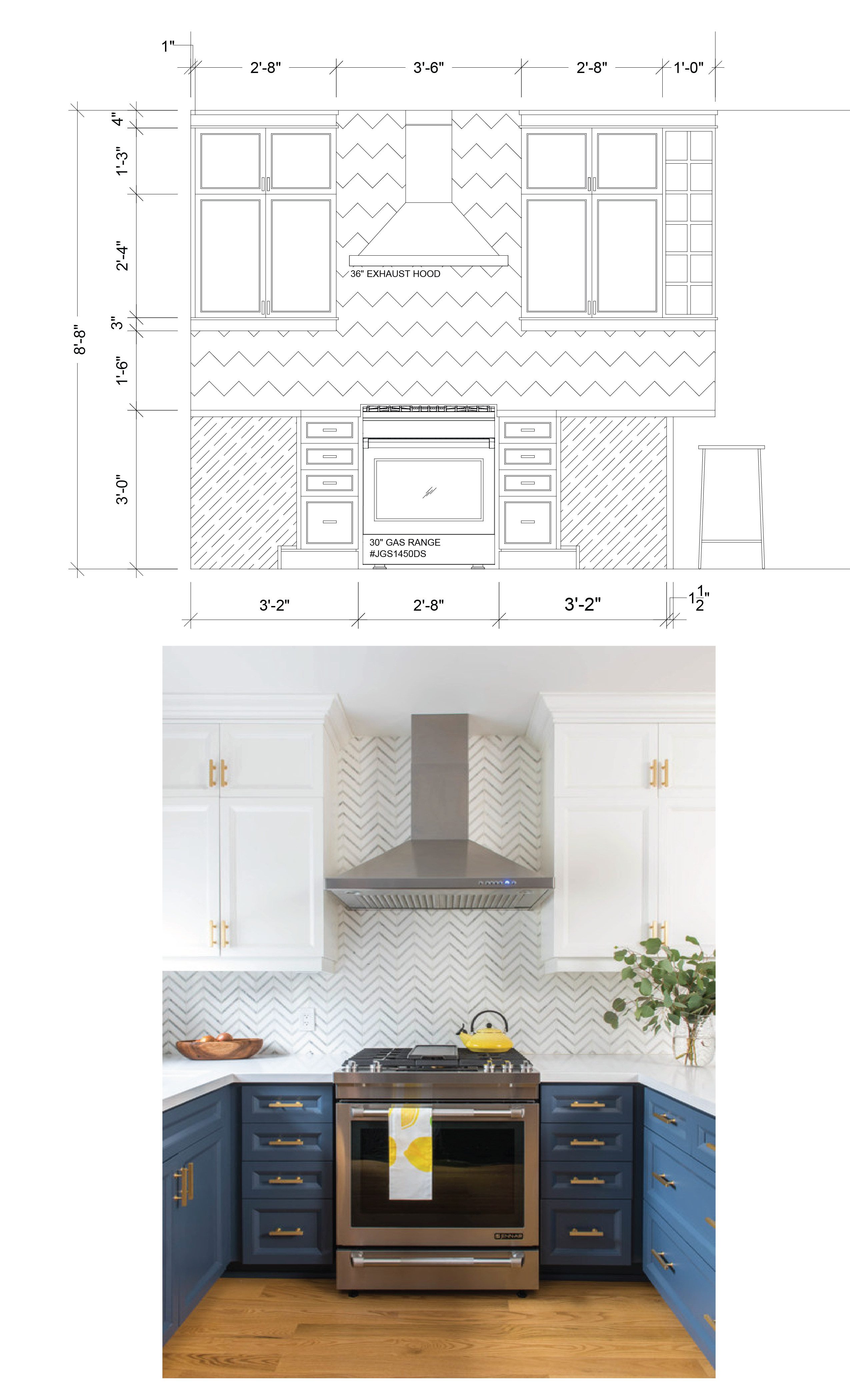 Langley Kitchen Drawings