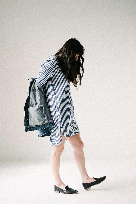 A Lasting Closet: Everlane Collarless Shirtdress