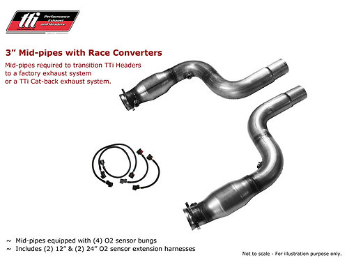 TTI Catted Race Mid Pipes