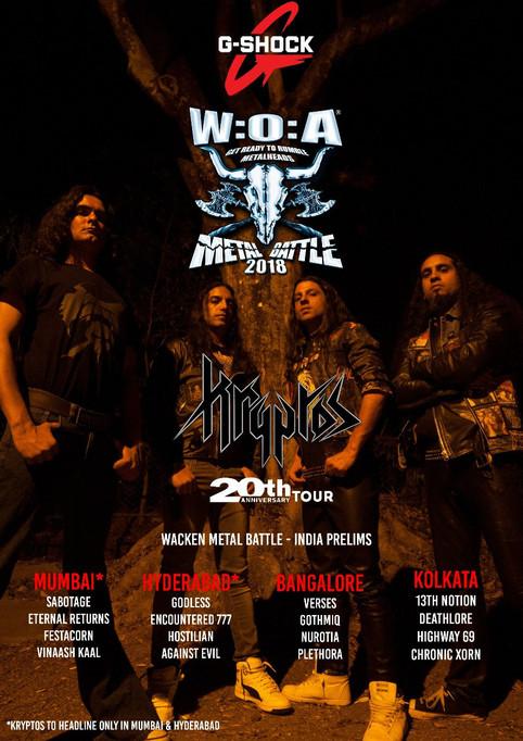 Playing prelims in Mumbai for Wacken Metal Battle