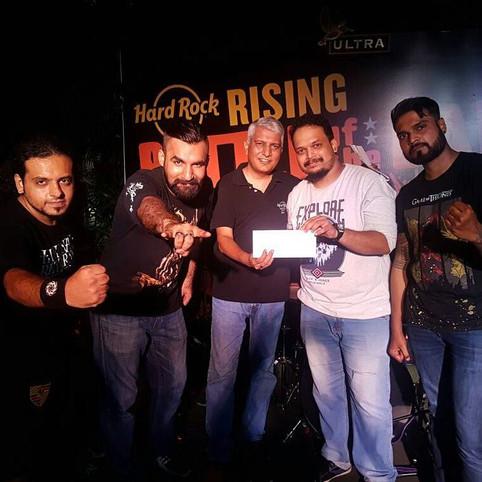 Runner-Up at HardRising 2017 Goa