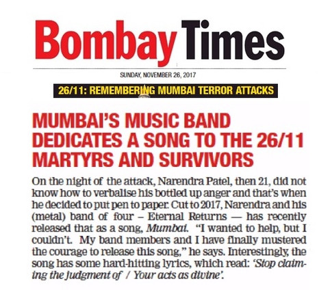 Featured in today's Bombay Times