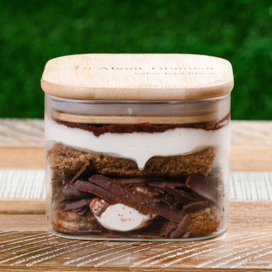 Vanilla Tiramisu in large jar
