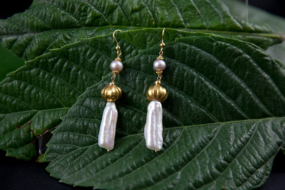 Orecchini in Perle e oro