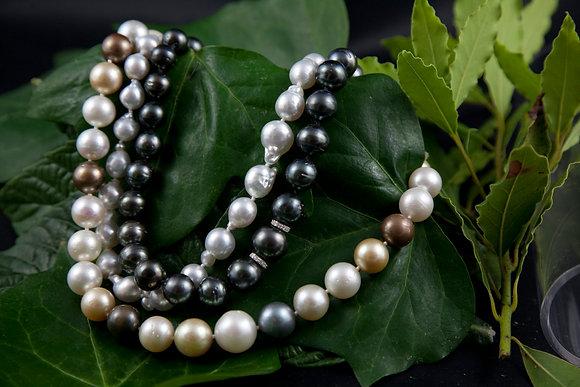 Collana Perle multicolor