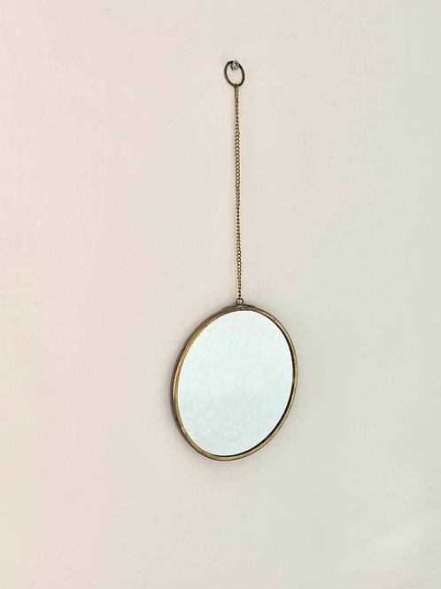 Brass Circular Hanging Mirror
