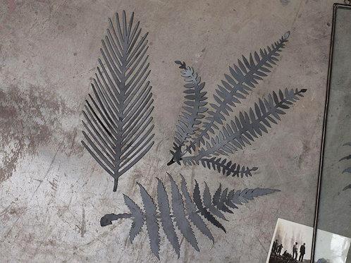 Kiko Brass Foliage Artwork - Matt Black
