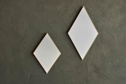 Kiko Brass Diamond Mirror