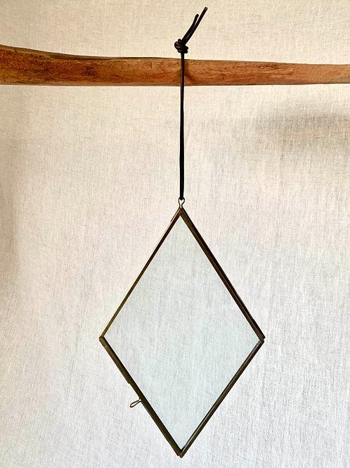 Kiko Diamond Brass Picture Frame