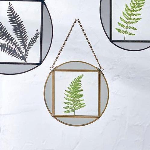 Teema Round Frame with Mirror details - Antique Glass