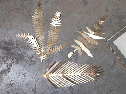 Kiko Brass Foliage Artwork - Brass