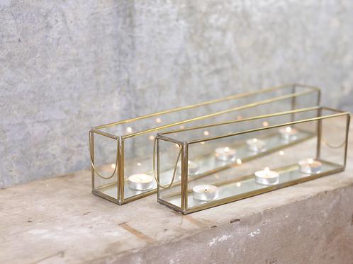 Brass Tealight Display Box