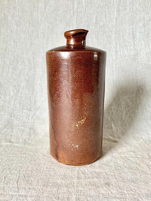 Vintage Brown Ceramic Narrow Necked Vase