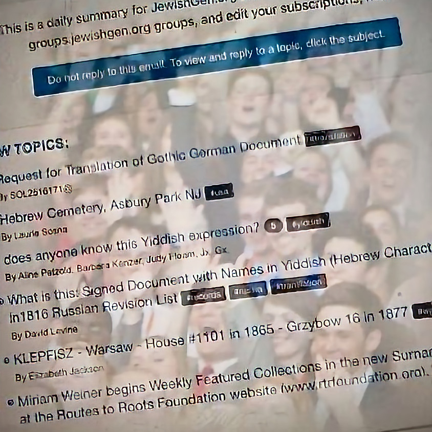 The Power of Community - JewishGen Discussion Groups
