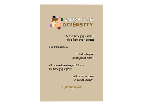 Poetry Poster - Embracing Diversity