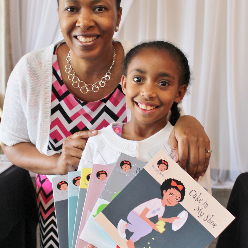 Author Grace LaJoy with Girl