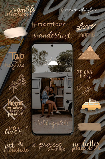 """Vanlife earthy"" - Sticker Bundle"