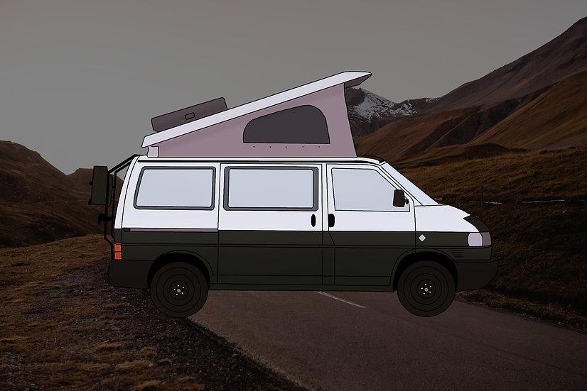 Personalisierte Fahrzeug Illustration