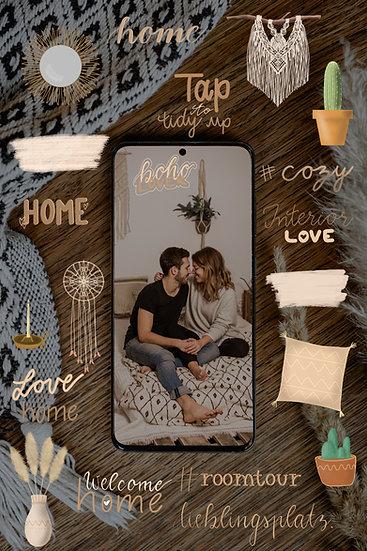 """""""Boho Home earthy"""" - Sticker Bundle"""