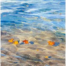 Autumn leaves on the sea
