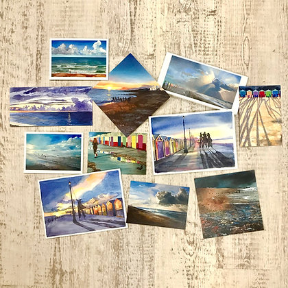 Selection of 10 Beach cards