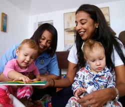 Stock photo nurses and children
