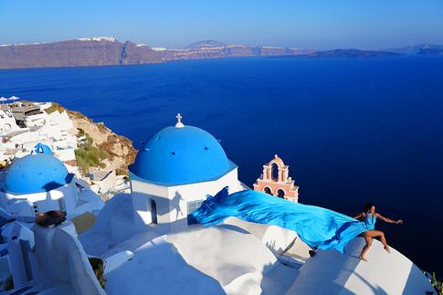 Santorini Long flying dresses